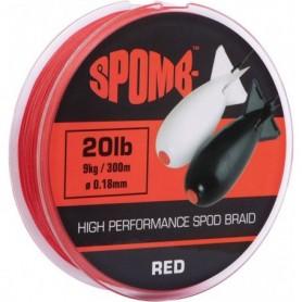 Spomb Braid 300m 9kg 20lb RED 0.1