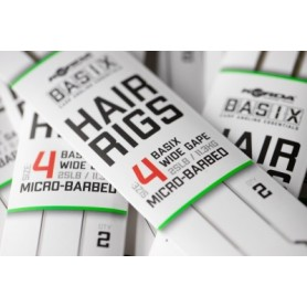 Korda Basix Hair Rigs Wide Gape 4B 25lb
