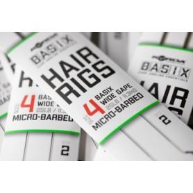 Korda Basix Hair Rigs Wide Gape 4 25lb