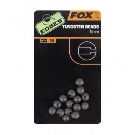 Fox Edges 5mm Tungsten beads x 15