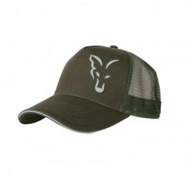 Fox green / silver trucker cap